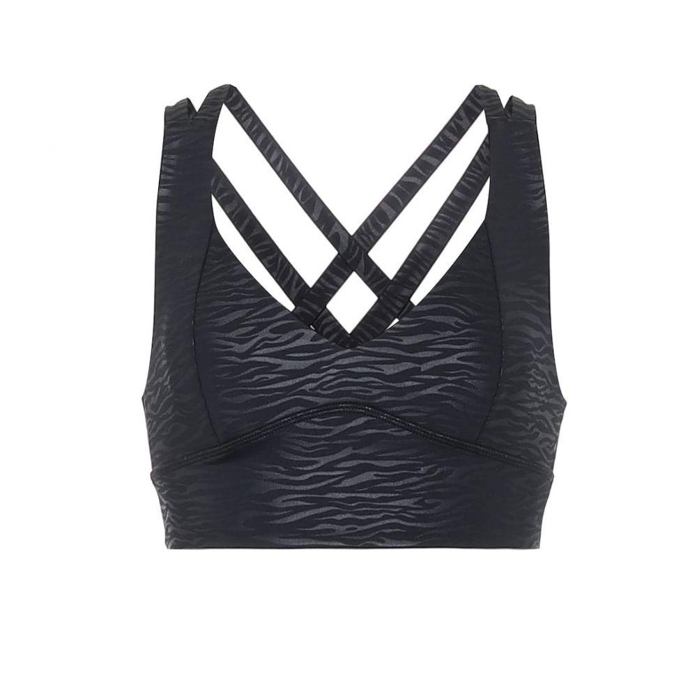 ランストン Lanston Sport レディース スポーツブラ インナー・下着【Max animal-print sports bra】Black Zebra