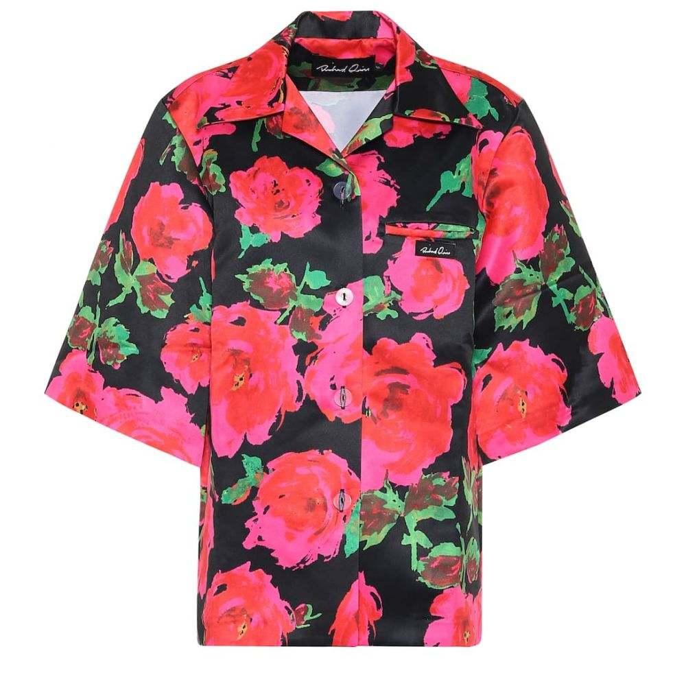 リチャード クイン Richard Quinn レディース ブラウス・シャツ トップス【Floral satin shirt】Fuchsia
