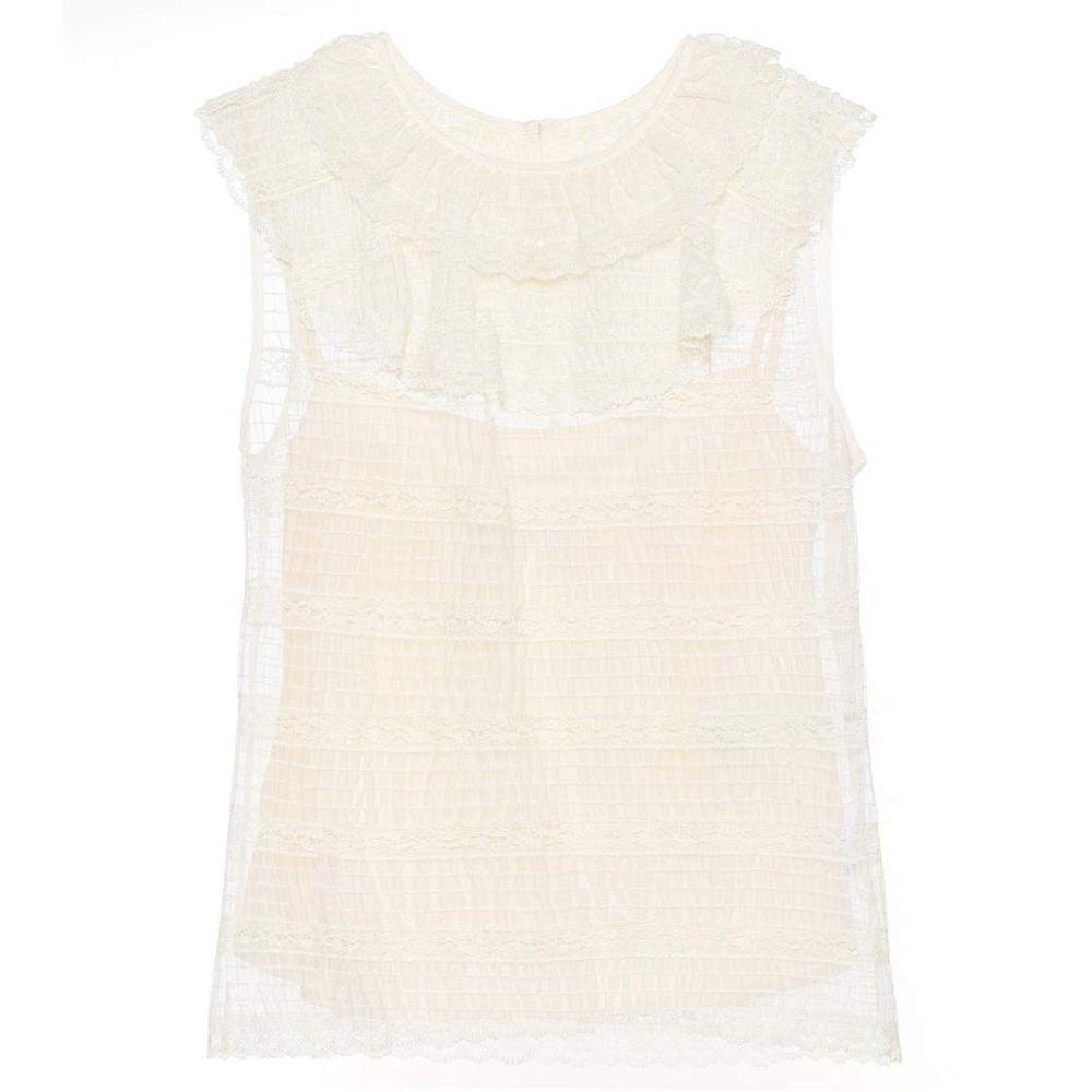 レッド ヴァレンティノ REDValentino レディース ノースリーブ トップス【Sleeveless lace top】Ivory