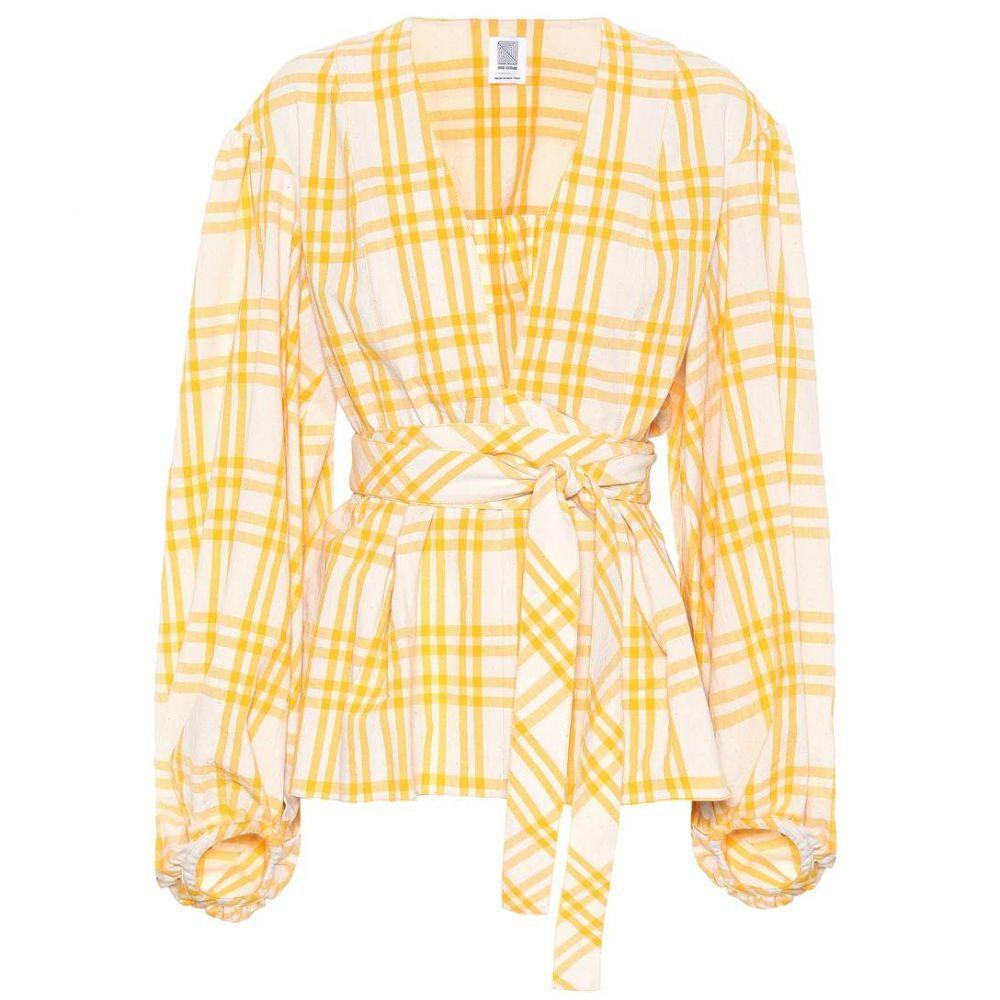 ロージーアスリン Rosie Assoulin レディース トップス 【The Ties That Bind Us plaid top】Yellow