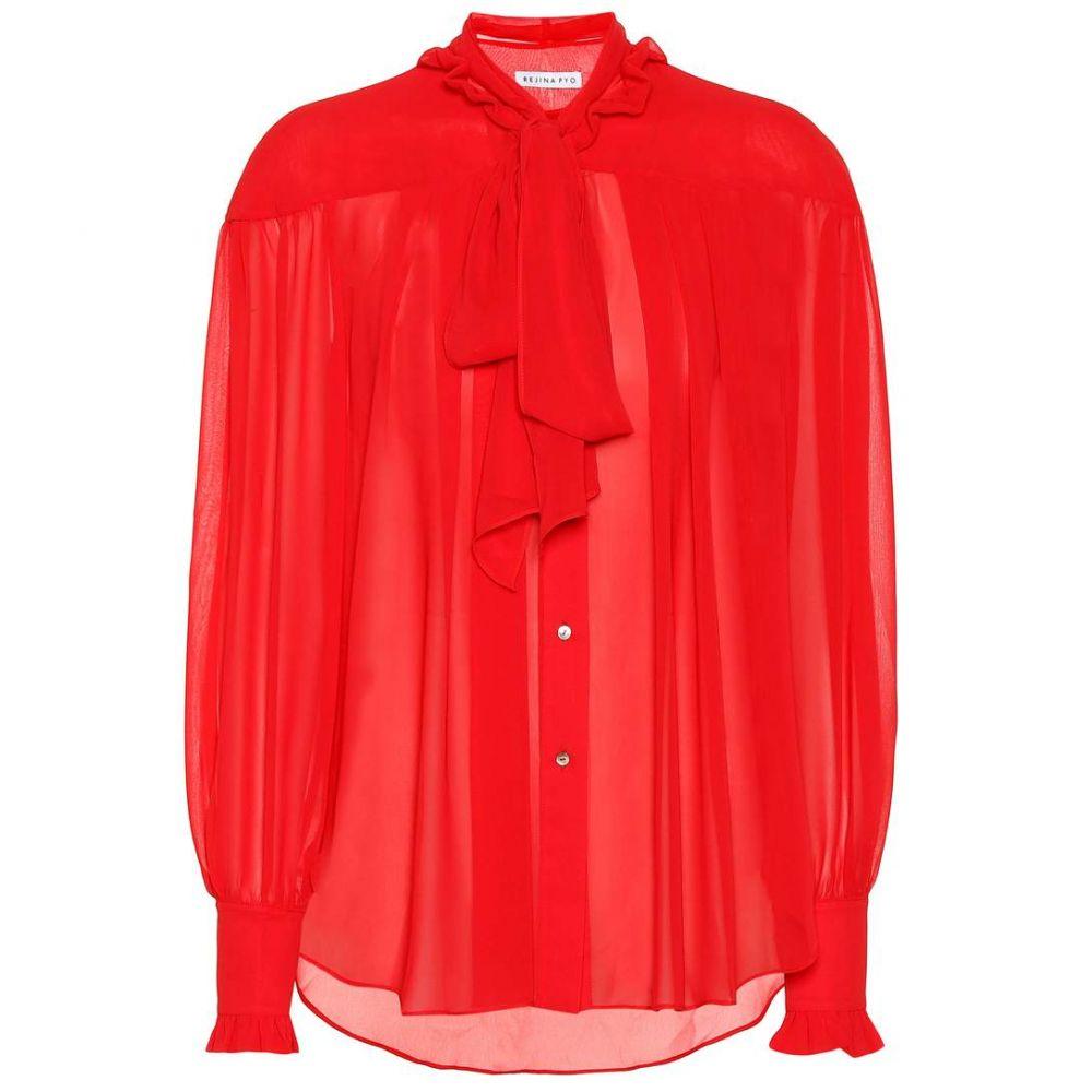 レジーナ ピヨ Rejina Pyo レディース ブラウス・シャツ トップス【Lynn chiffon shirt】Chiffon red