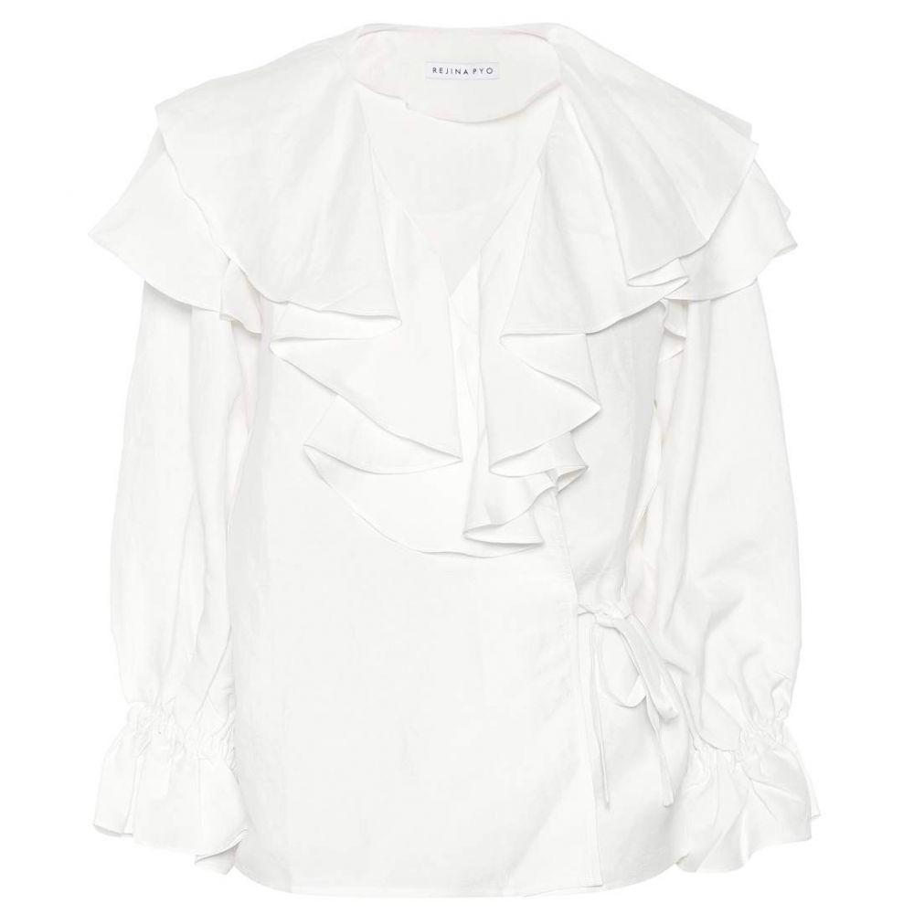 レジーナ ピヨ Rejina Pyo レディース ブラウス・シャツ トップス【Camila linen-blend blouse】linen white
