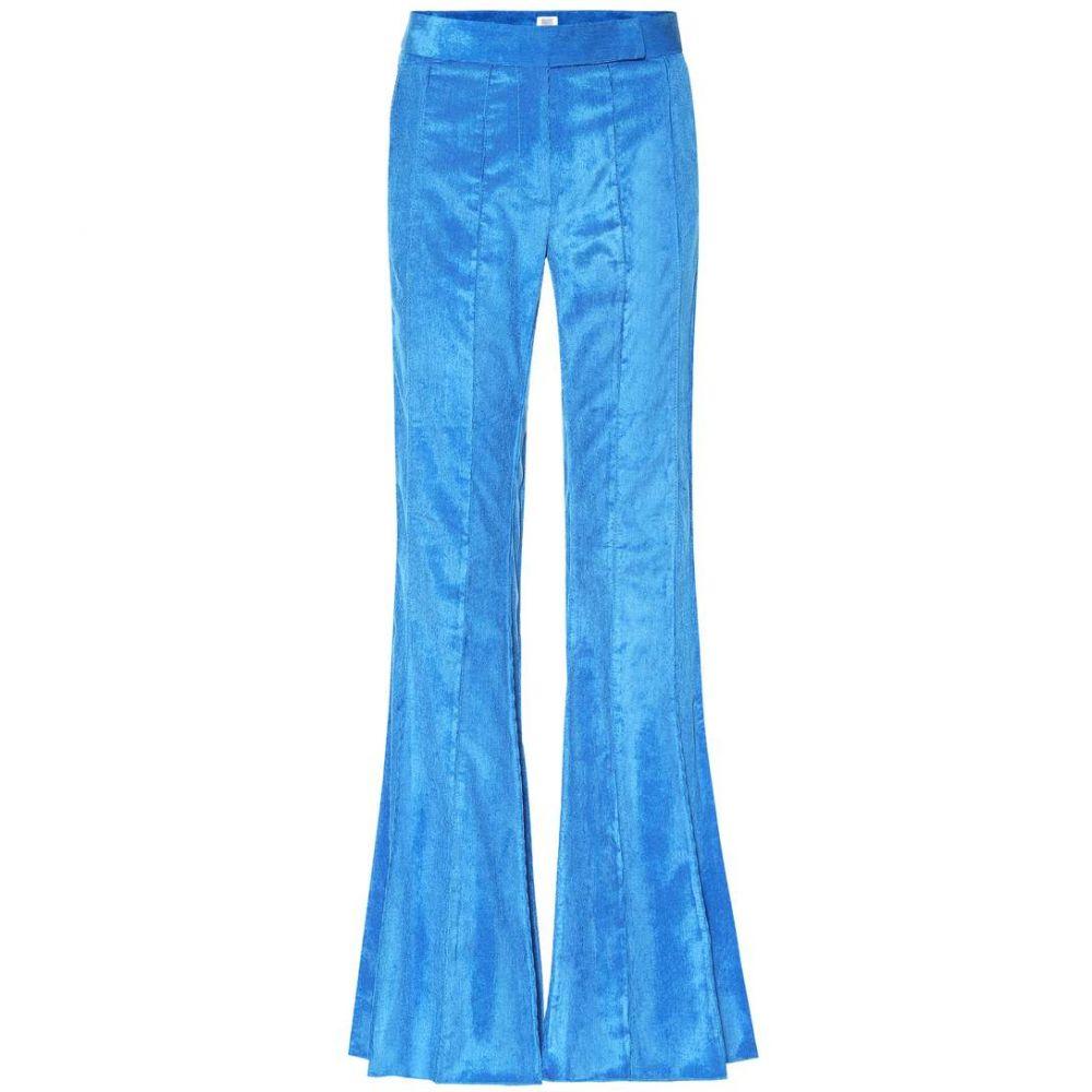 ロージーアスリン Rosie Assoulin レディース ボトムス・パンツ 【Pleated Flare corduroy pants】Lagoon Blue