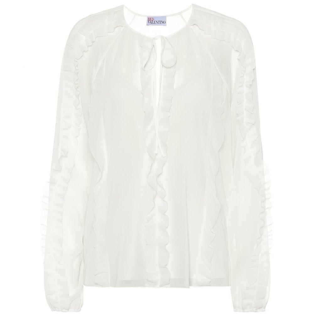 レッド ヴァレンティノ REDValentino レディース ブラウス・シャツ トップス【Ruffled silk-blend blouse】Latte
