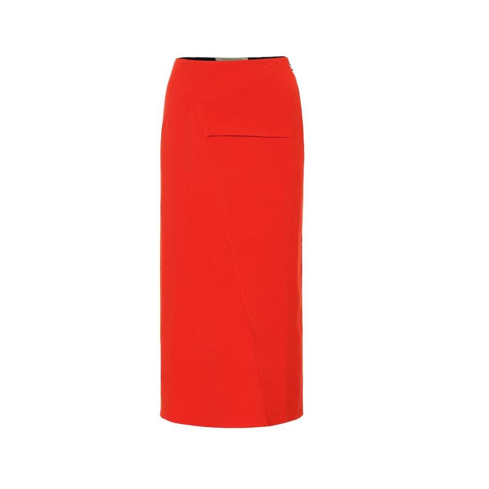ローラン ムレ Roland Mouret レディース ひざ丈スカート ペンシルスカート スカート【Abrams crepe pencil skirt】Poppy Red