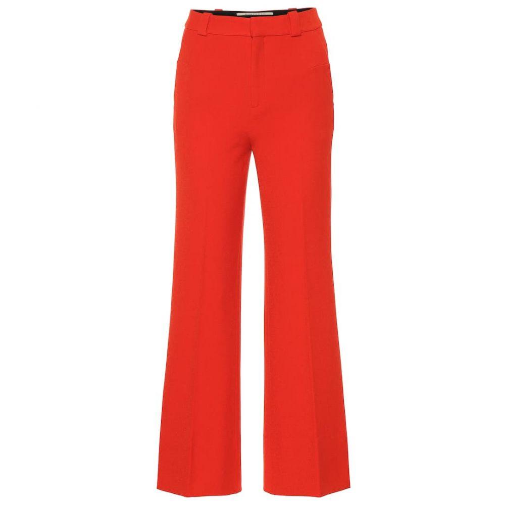 ローラン ムレ Roland Mouret レディース ボトムス・パンツ 【Dilman high-rise wide-leg pants】Poppy Red