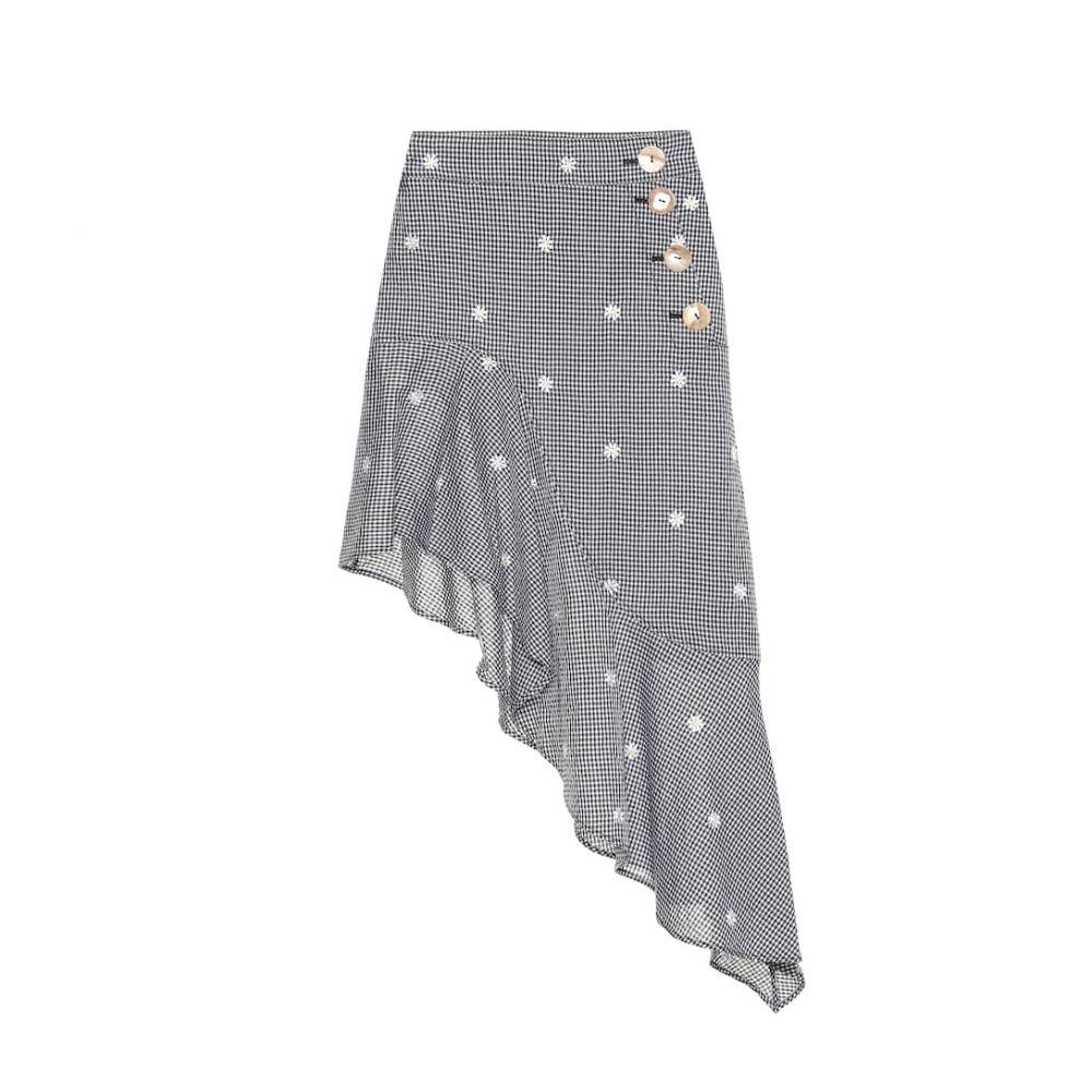 レジーナ ピヨ Rejina Pyo レディース スカート 【Ella checked cotton-blend skirt】Black Daisy