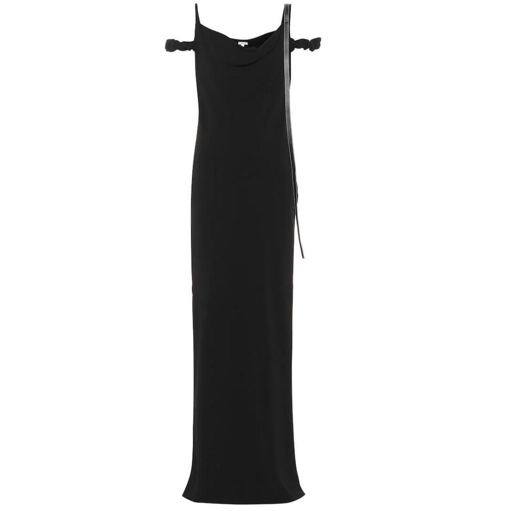 ロエベ Loewe レディース ワンピース マキシ丈 ワンピース・ドレス【Crepe maxi dress】Black