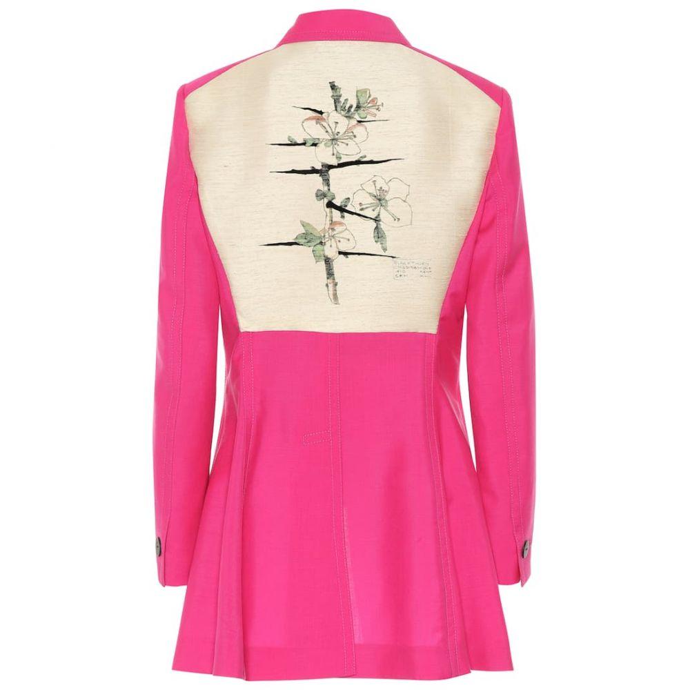 ロエベ Loewe レディース スーツ・ジャケット アウター【Botanical wool blazer】Pink