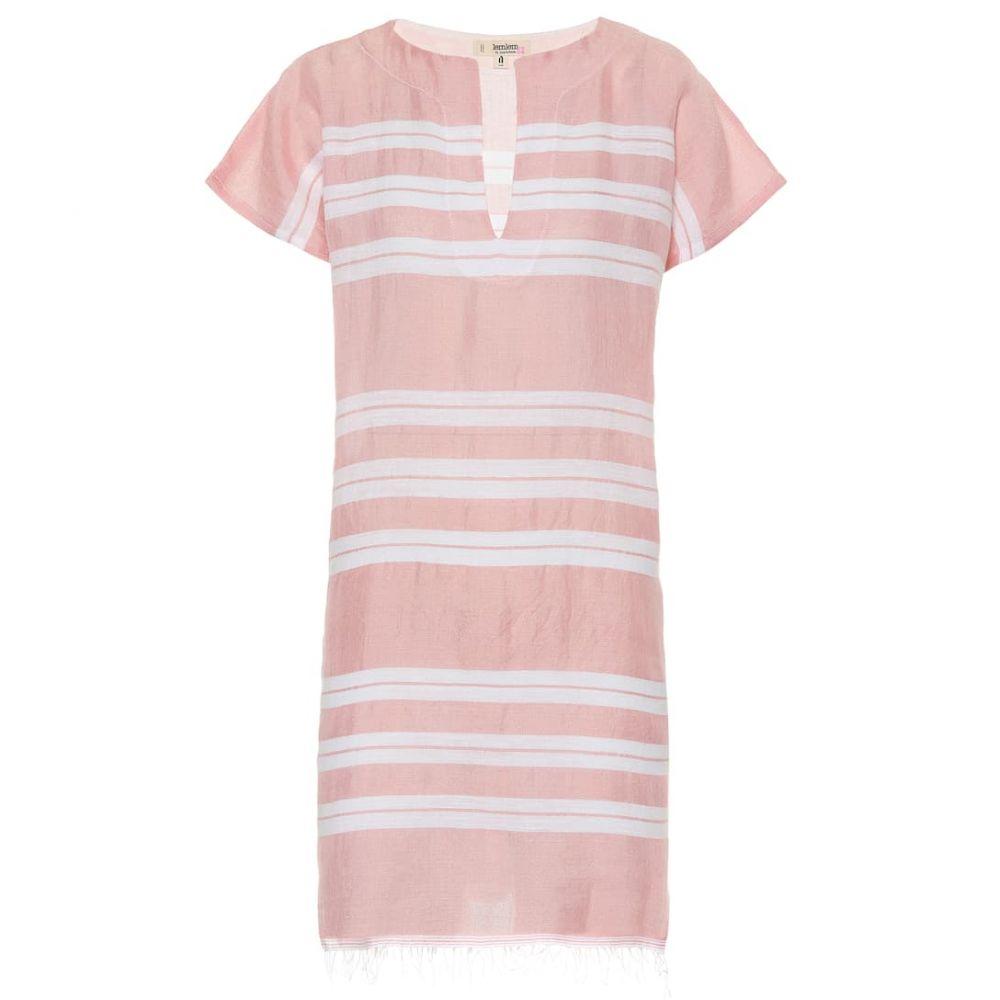 レムレム Lemlem レディース ビーチウェア チュニックドレス 水着・ビーチウェア【Doro cotton-blend tunic dress】Light Coral