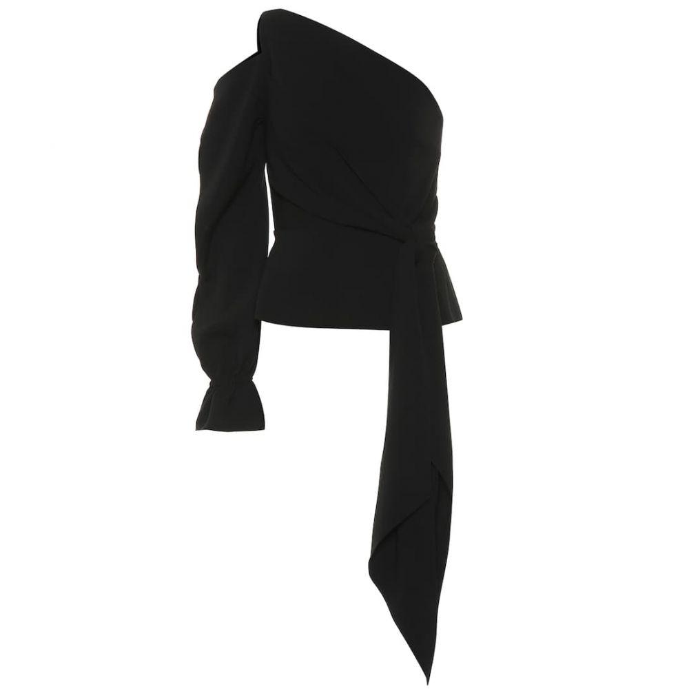 ローラン ムレ Roland Mouret レディース ブラウス・シャツ ワンショルダー トップス【Vero one-shoulder blouse】Black