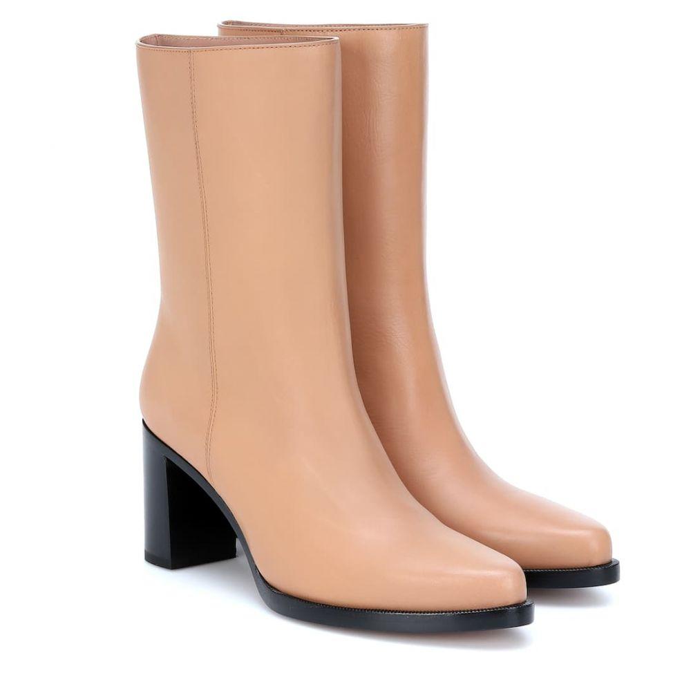 レグレス Legres レディース ブーツ ショートブーツ シューズ・靴【Leather ankle boots】Tan