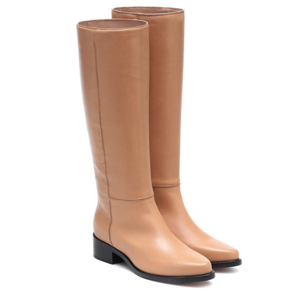 レグレス Legres レディース ブーツ シューズ・靴【Leather knee-high boots】Tan