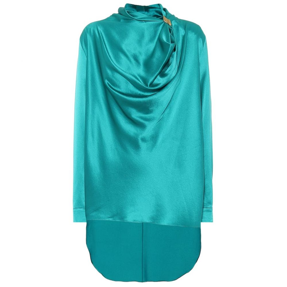 ロクサンダ Roksanda レディース トップス 【Limela draped silk-satin top】Cerulean