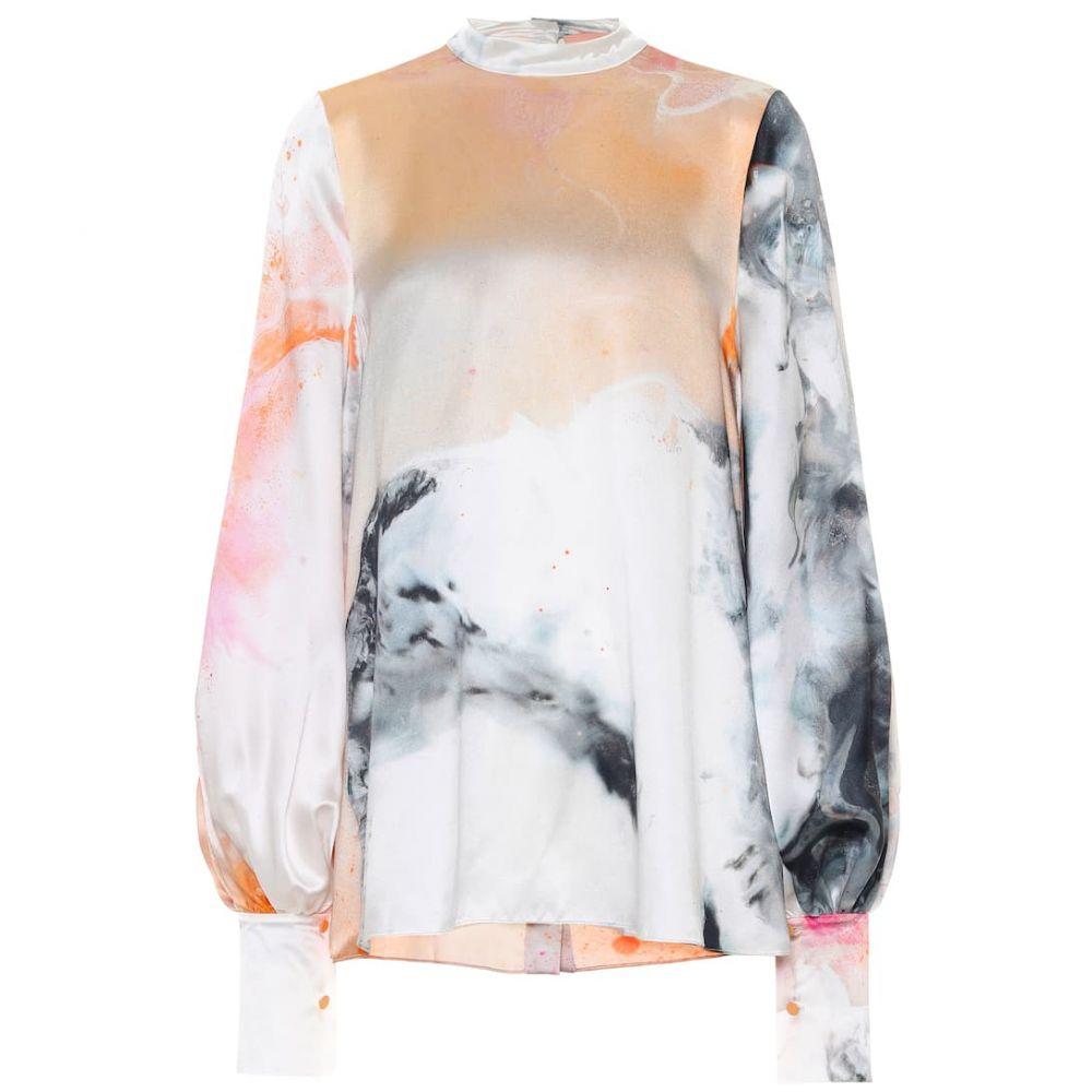 ロクサンダ Roksanda レディース ブラウス・シャツ トップス【Cala printed silk-satin blouse】Orange Explosion