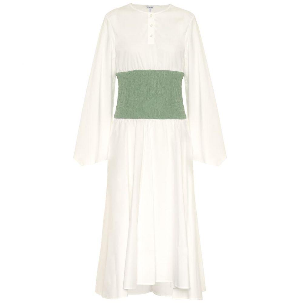 ロエベ Loewe レディース ワンピース ミドル丈 ワンピース・ドレス【Waisted cotton midi dress】Pistachio Green