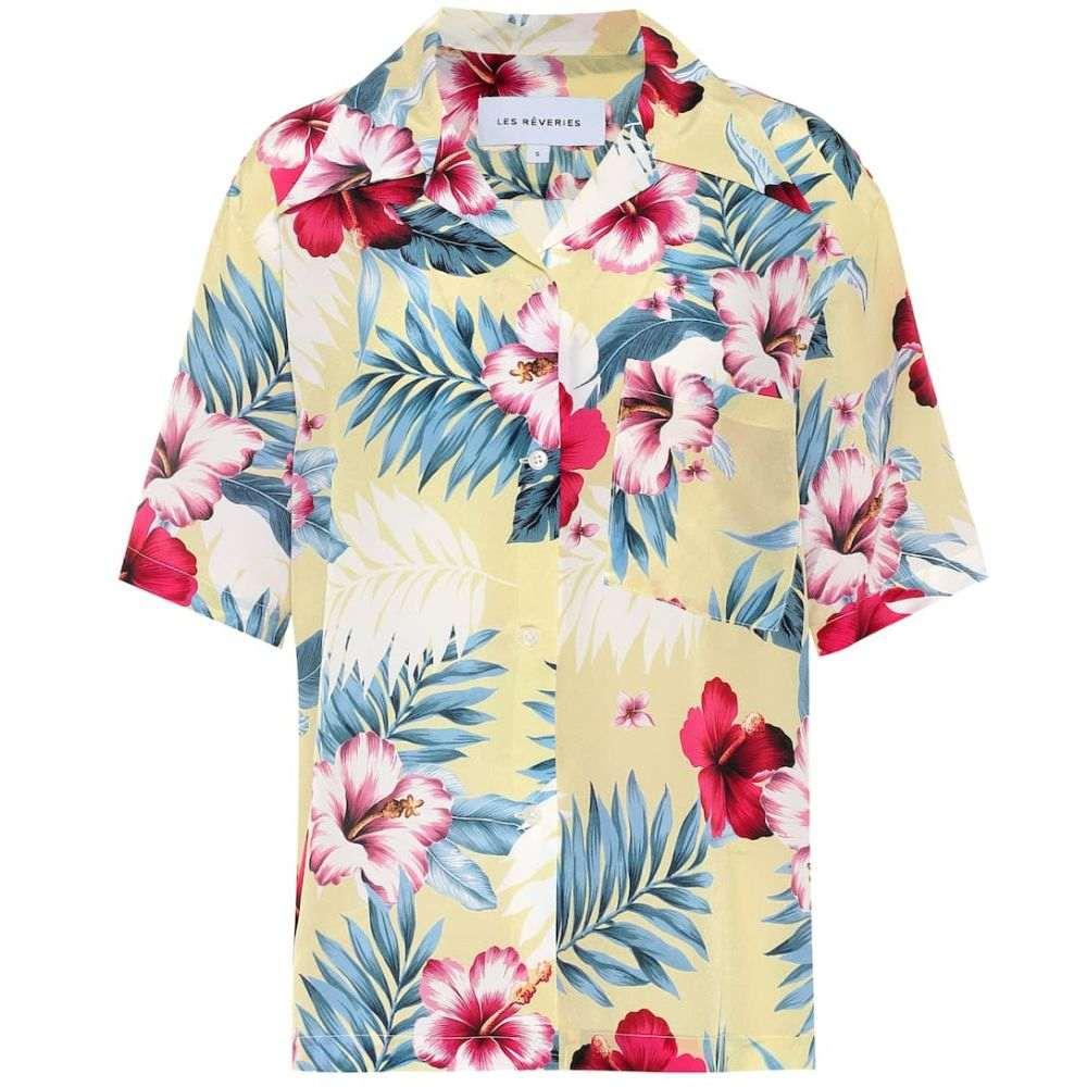 レ レヴェリズ Les Reveries レディース ブラウス・シャツ トップス【Floral silk shirt】Hibiscus Yellow