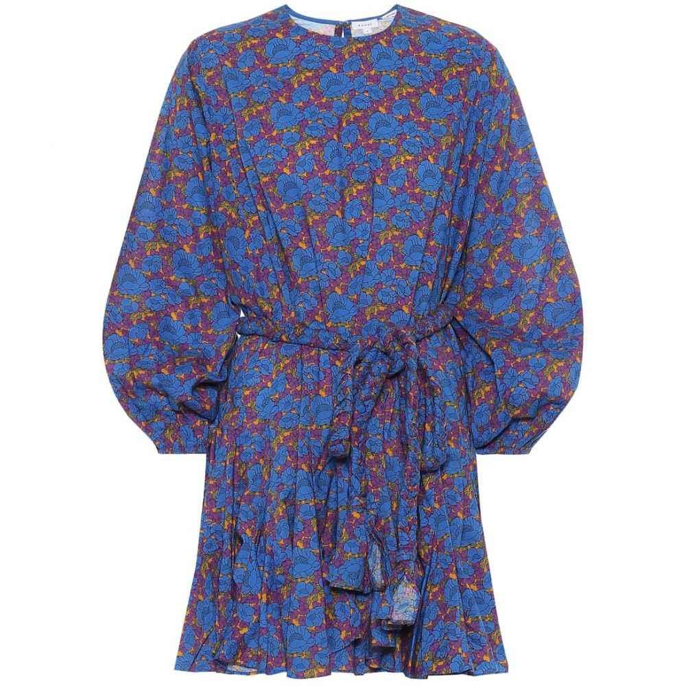 ロードリゾート RHODE レディース ワンピース ワンピース・ドレス【Ella floral cotton minidress】Blue Blossom