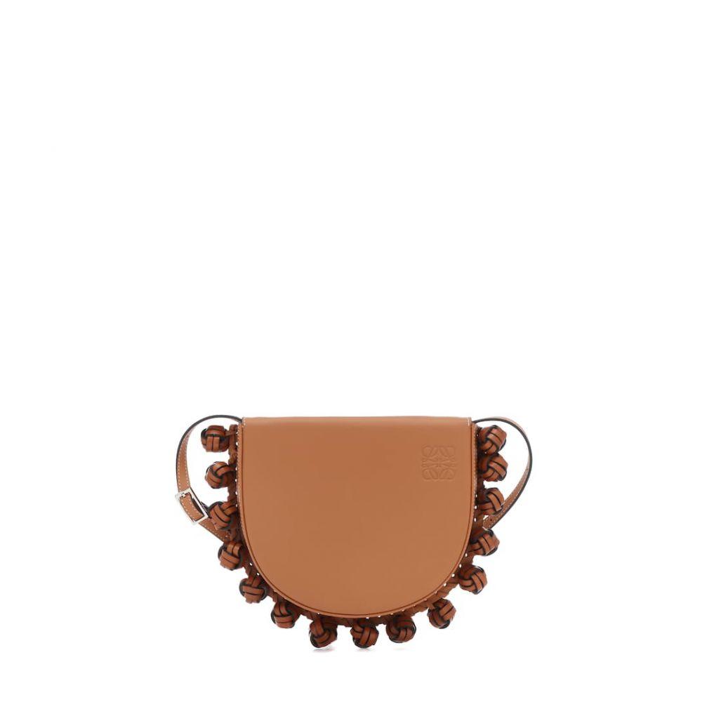 ロエベ Loewe レディース ショルダーバッグ バッグ【Heel Knots leather shoulder bag】Tan