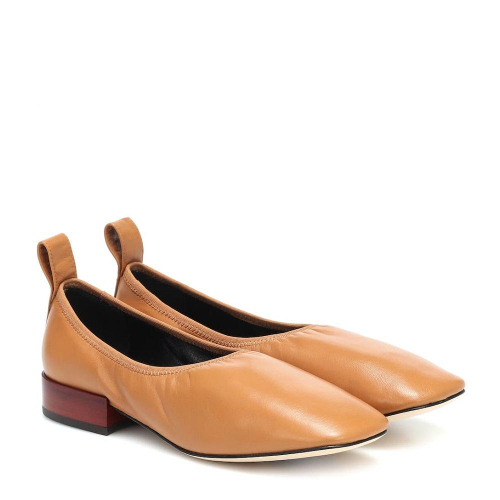 ロエベ Loewe レディース スリッポン・フラット シューズ・靴【Leather ballet flats】Desert