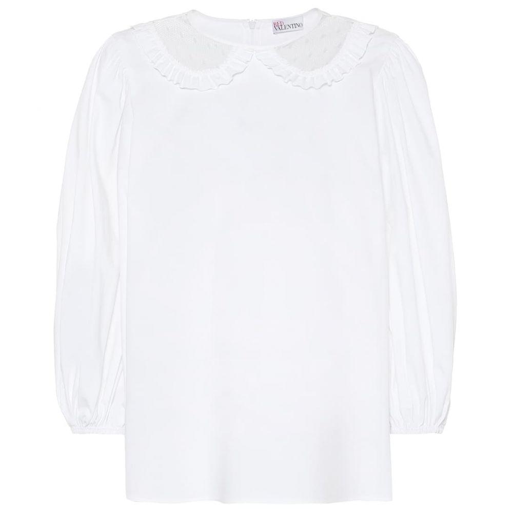 レッド ヴァレンティノ REDValentino レディース トップス 【Stretch-cotton top】Bianco Ottico