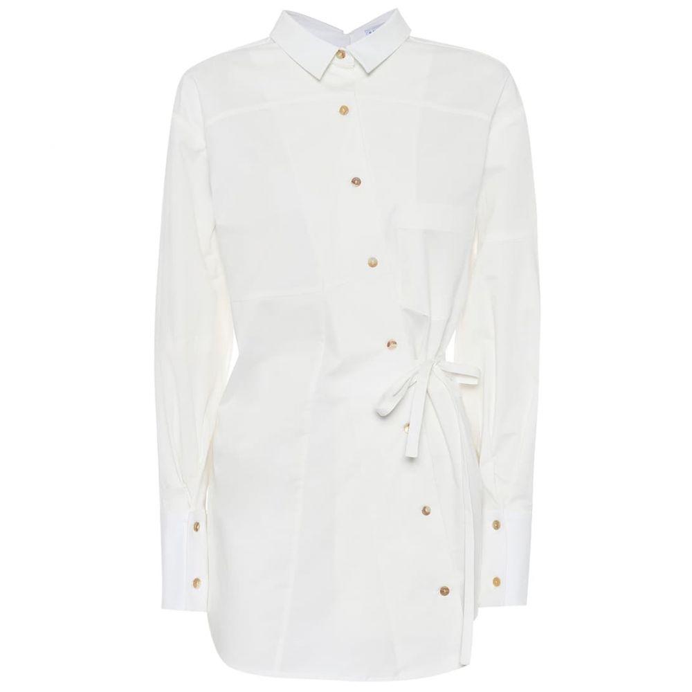 レジーナ ピヨ Rejina Pyo レディース ブラウス・シャツ トップス【Tatiana asymmetrical cotton shirt】White