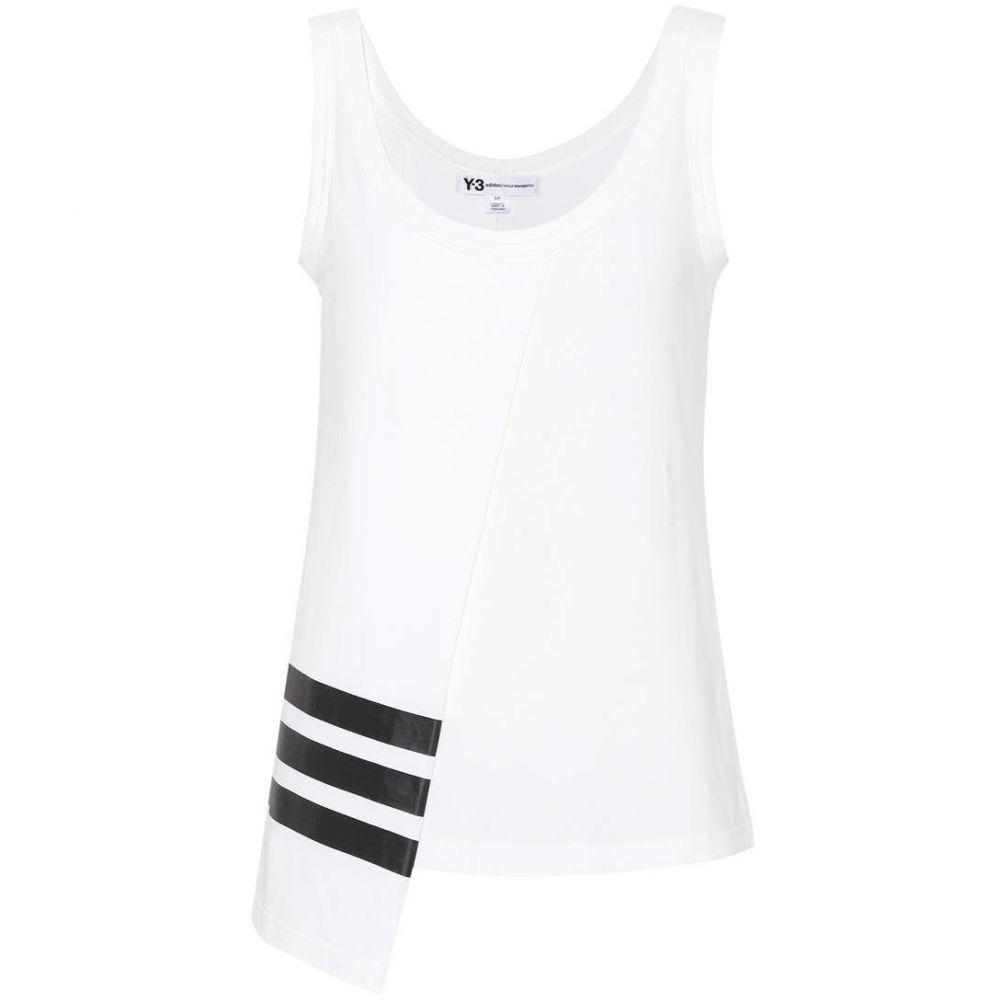ワイスリー Y-3 レディース タンクトップ トップス【Cotton-blend tank top】White/Black