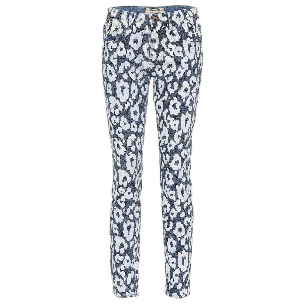 ロベルト カヴァリ Roberto Cavalli レディース ジーンズ・デニム ボトムス・パンツ【Leopard-printed jeans】Blue
