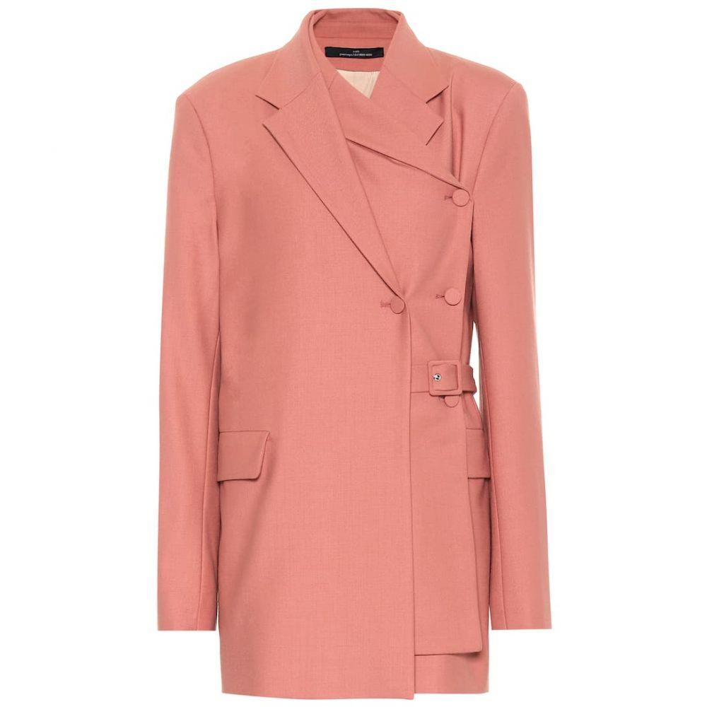 ロック Rokh レディース スーツ・ジャケット アウター【Belted layered blazer】blush