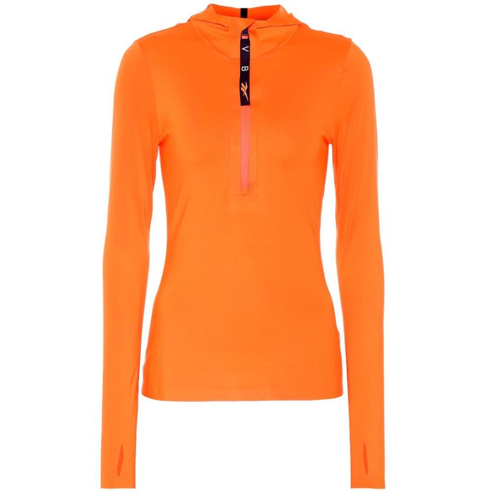 リーボック Reebok x Victoria Beckham レディース フィットネス・トレーニング トップス【Hooded training top】Swag Orange S