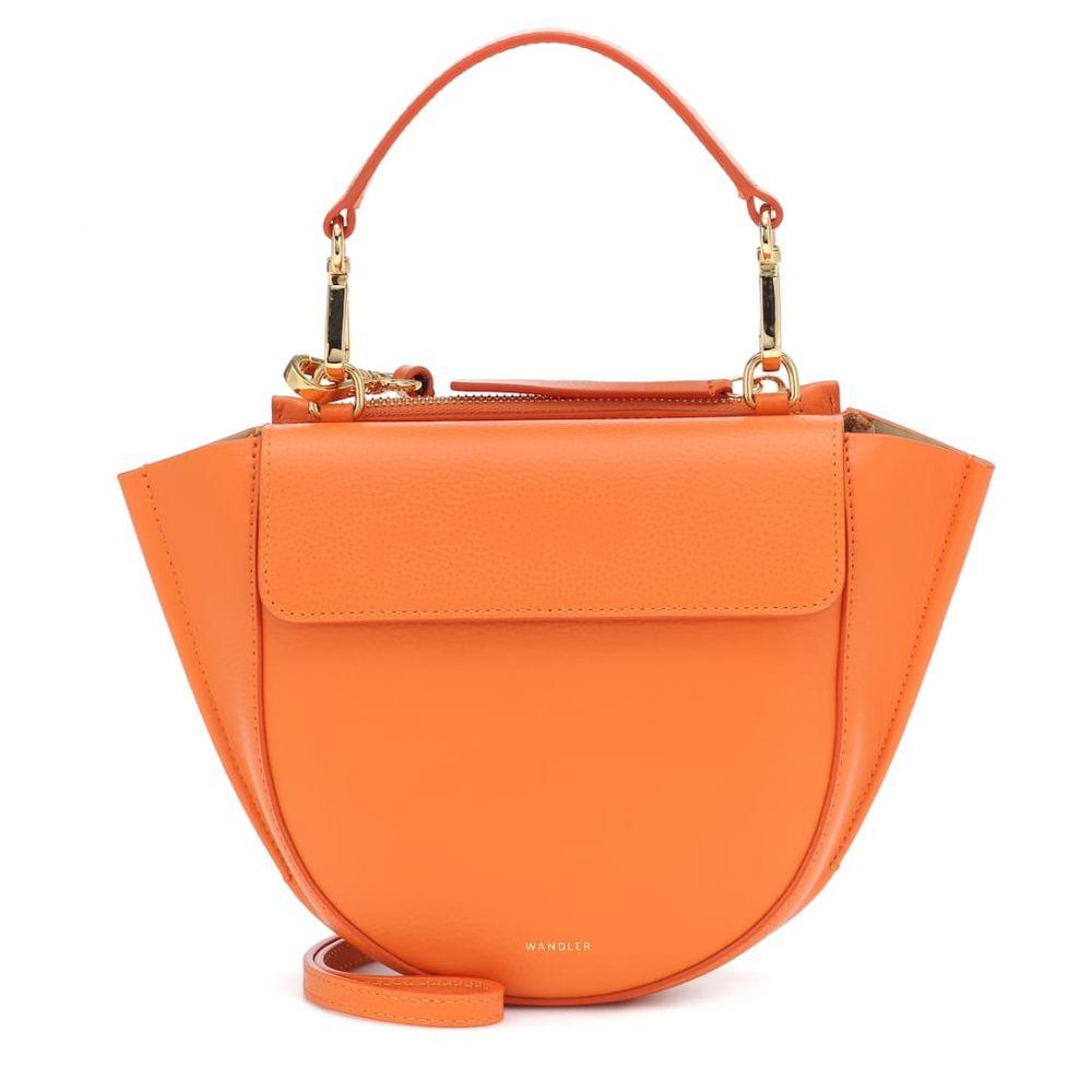ワンダラー Wandler レディース ショルダーバッグ バッグ【Hortensia Mini leather shoulder bag】Canyon Crust