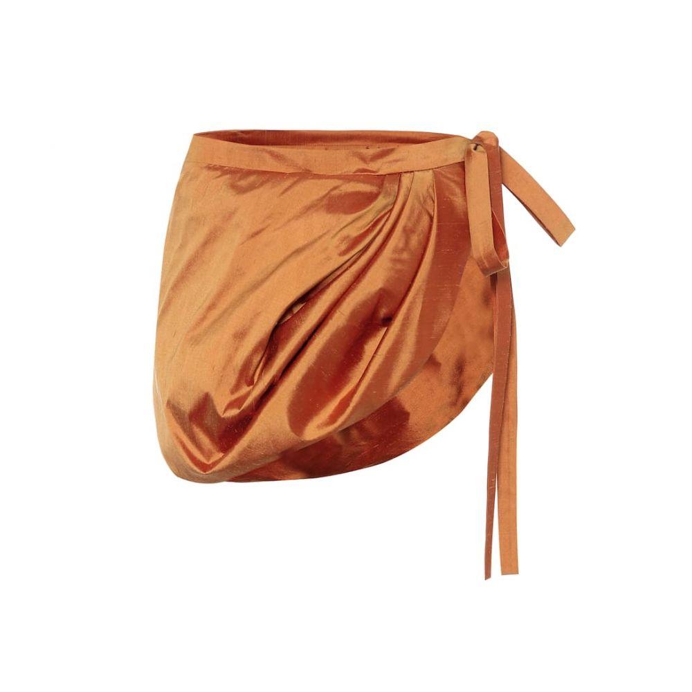 ワイプロジェクト Y/PROJECT レディース ミニスカート スカート【Silk-shantung miniskirt】Burnt Orange