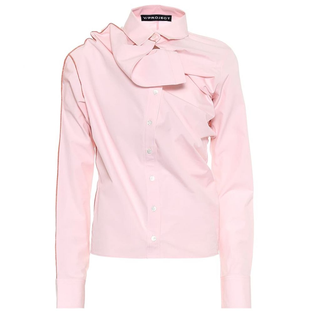 ワイプロジェクト Y/PROJECT レディース ブラウス・シャツ トップス【Cotton shirt】Light Pink