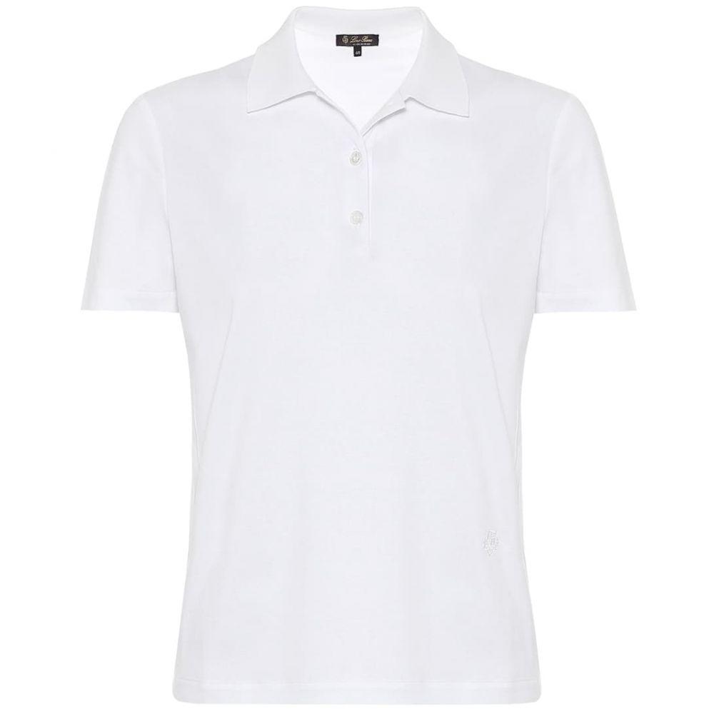 ロロピアーナ Loro Piana レディース ポロシャツ トップス【Cotton-pique polo shirt】White