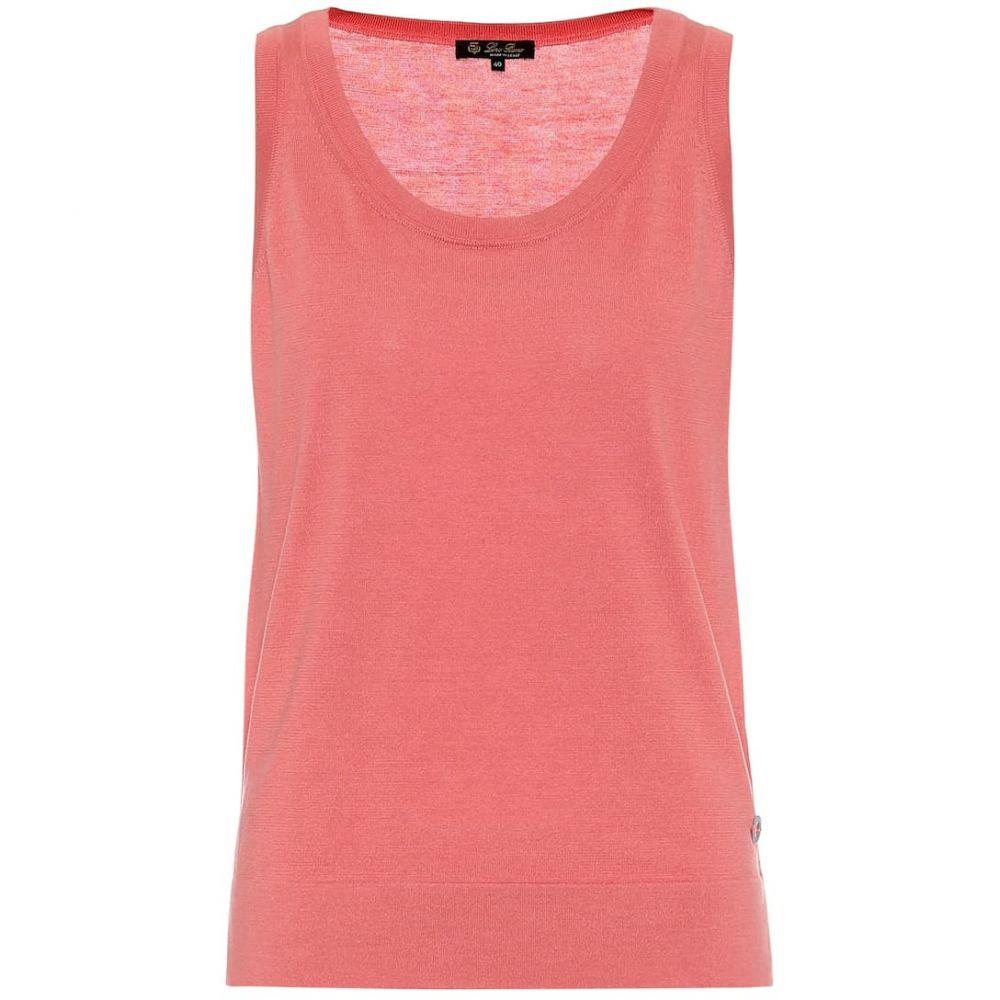 ロロピアーナ Loro Piana レディース タンクトップ トップス【Silk and cotton knit tank top】Pink