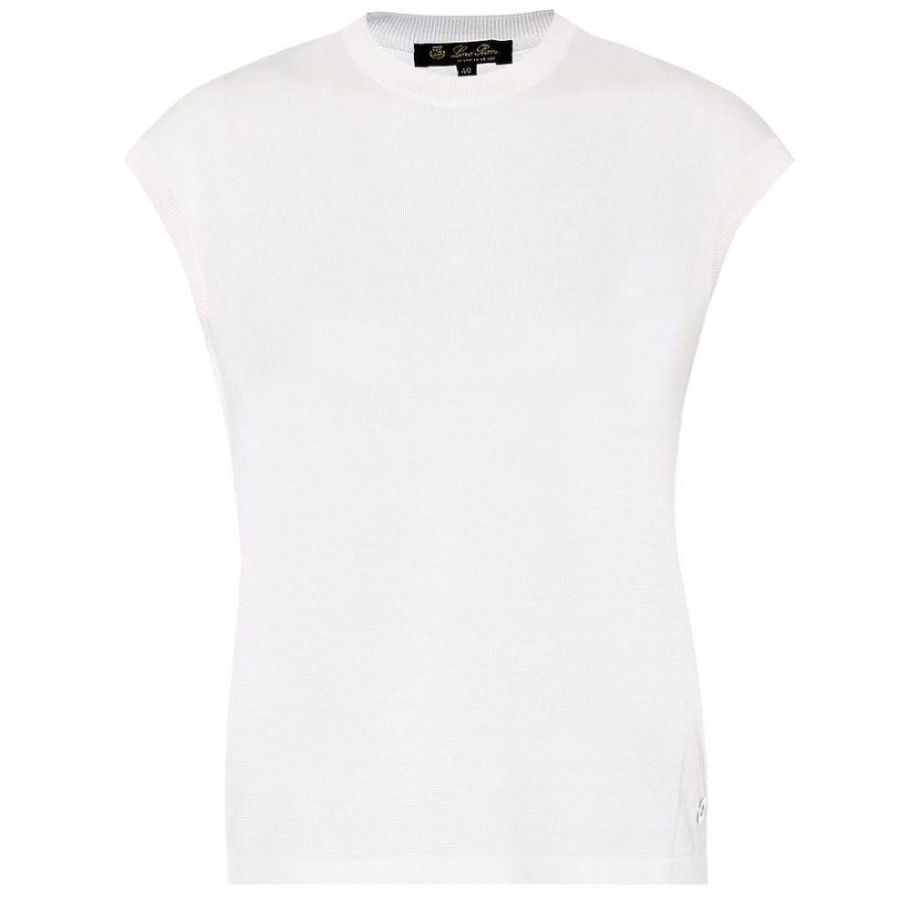 ロロピアーナ Loro Piana レディース ノースリーブ トップス【Silk and cotton top】White