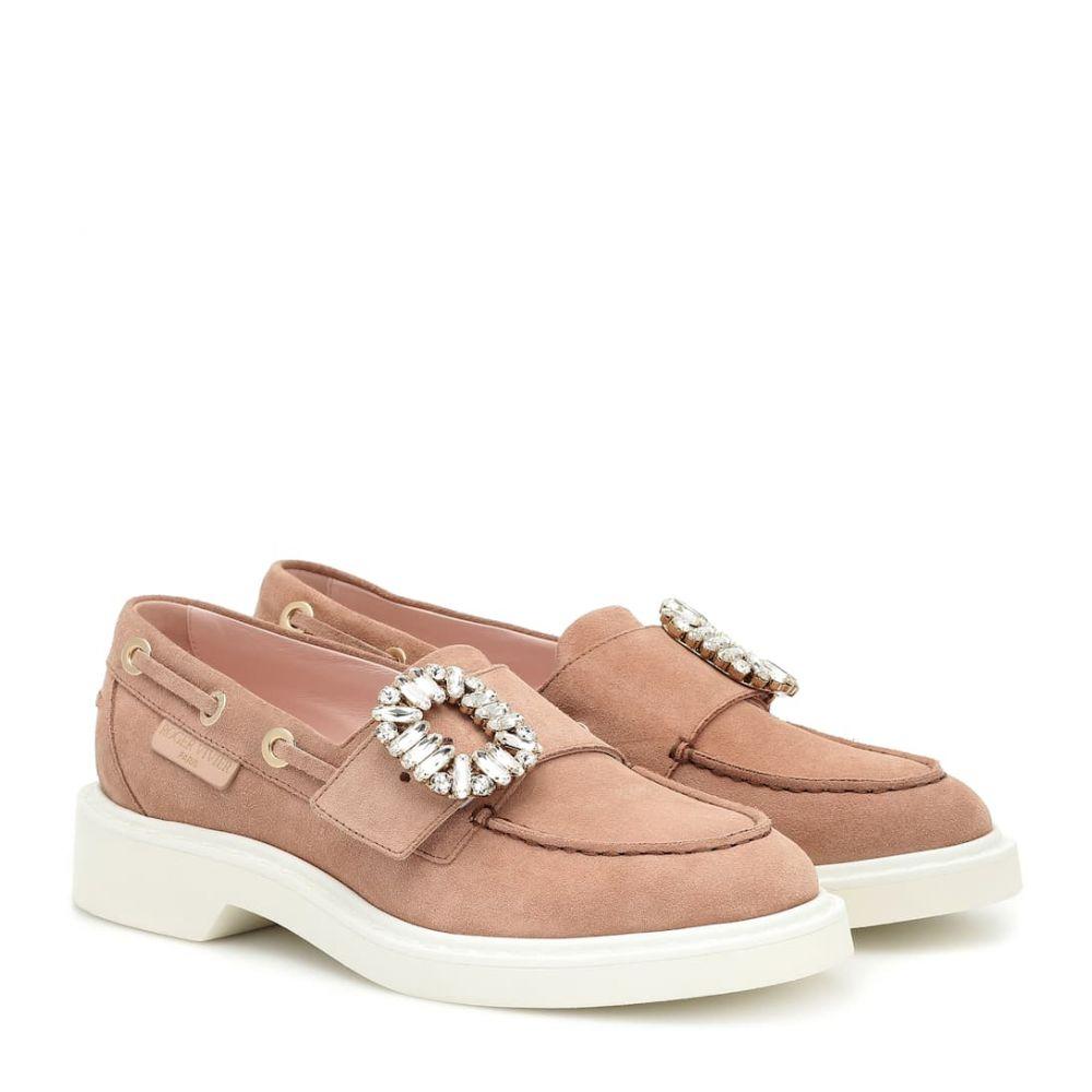 ロジェ ヴィヴィエ Roger Vivier レディース ローファー・オックスフォード シューズ・靴【Viv' Boat embellished suede loafers】