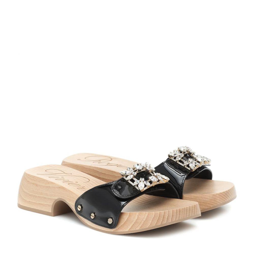 ロジェ ヴィヴィエ Roger Vivier レディース サンダル・ミュール シューズ・靴【Viv' Clogs patent leather sandals】Nero
