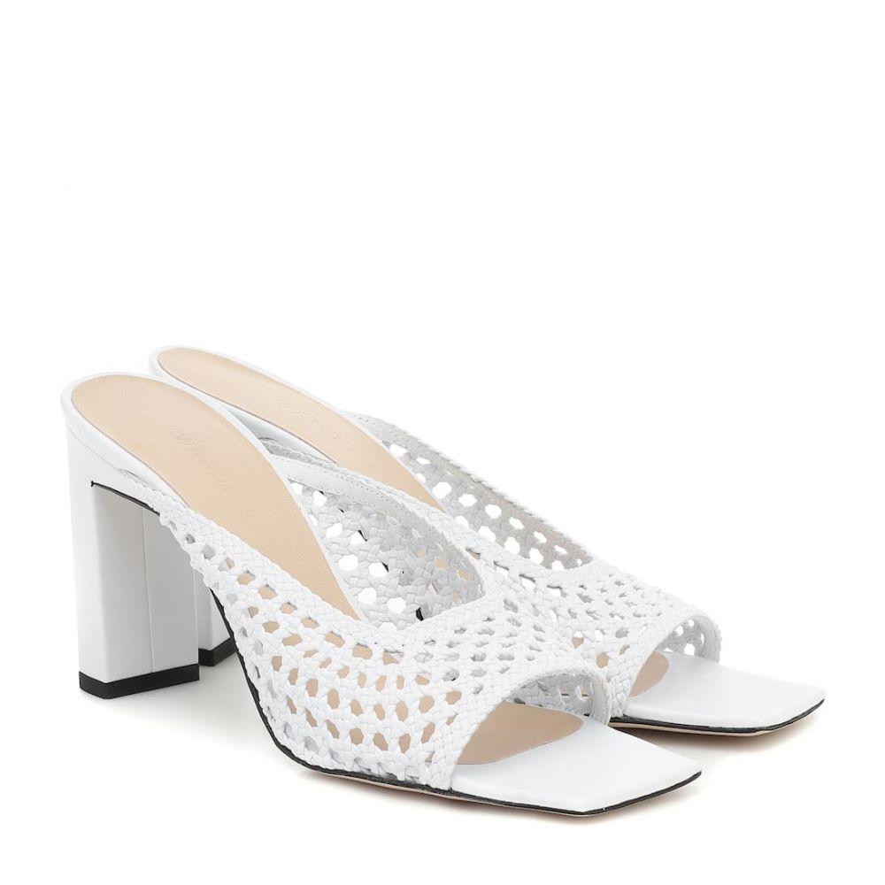 ワンダラー Wandler レディース サンダル・ミュール シューズ・靴【Isa woven leather sandals】White