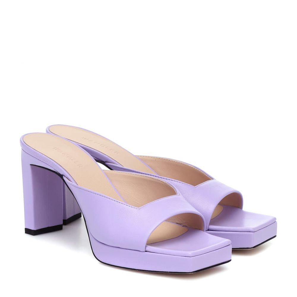 ワンダラー Wandler レディース サンダル・ミュール シューズ・靴【Isa leather platform sandals】Fairy