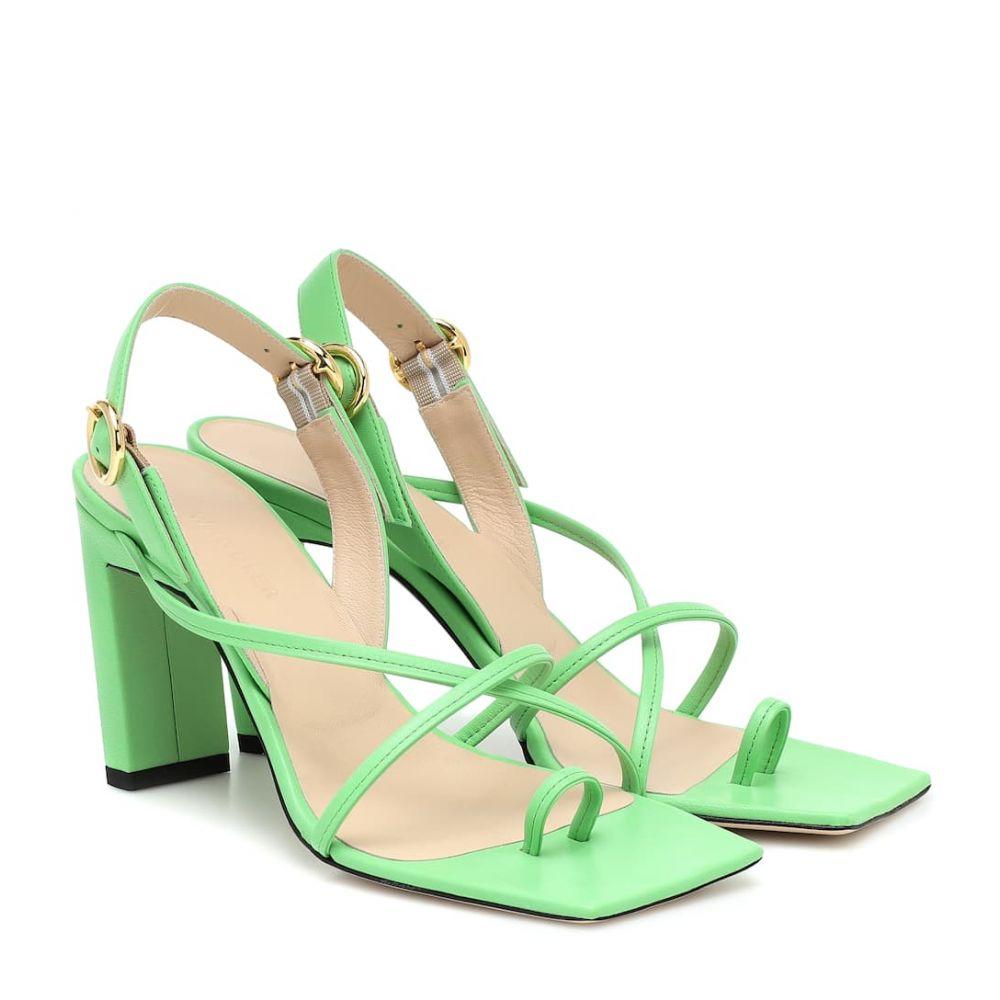 ワンダラー Wandler レディース サンダル・ミュール シューズ・靴【Elza leather sandals】Pistachio