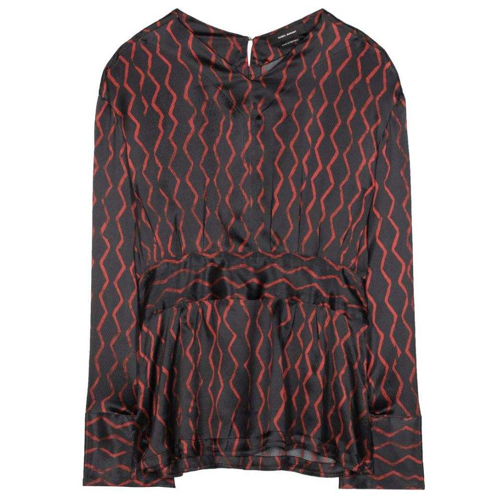 イザベル マラン Isabel Marant レディース ブラウス・シャツ トップス【Siasi printed silk-satin blouse】Black