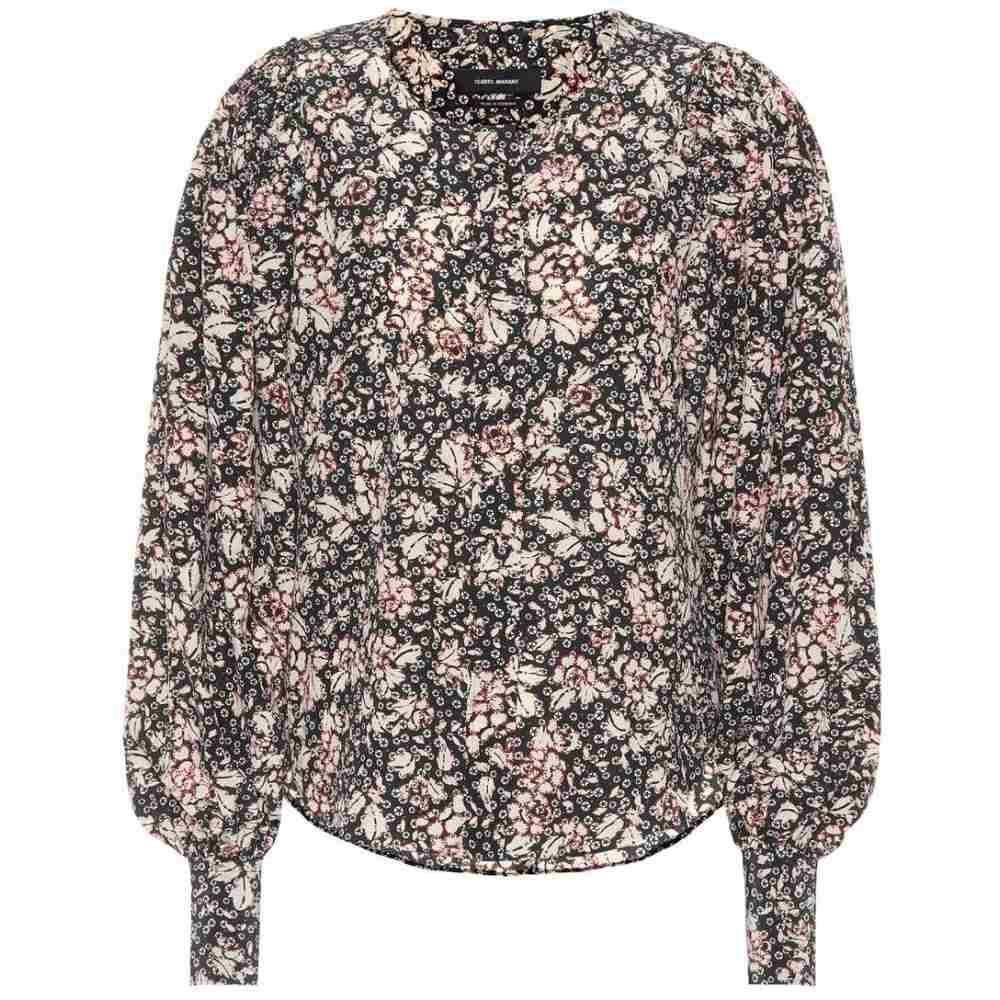 イザベル マラン Isabel Marant レディース ブラウス・シャツ トップス【Berny printed stretch-silk shirt】Black