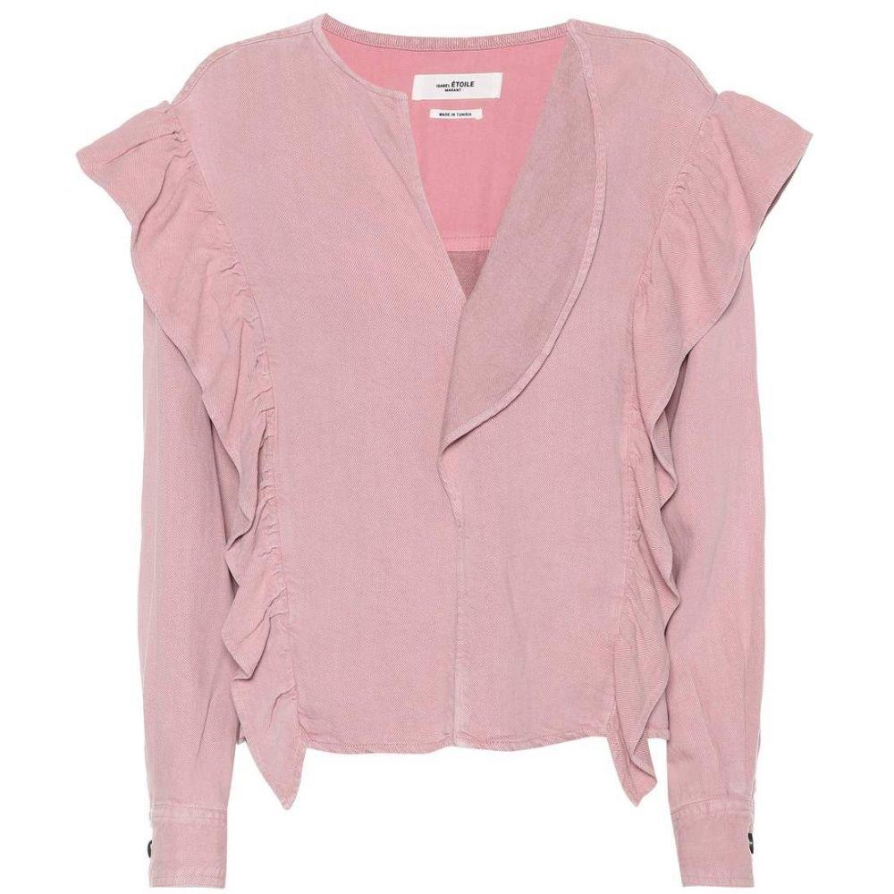 イザベル マラン Isabel Marant, Etoile レディース トップス 【Wally linen-blend top】Light Pink