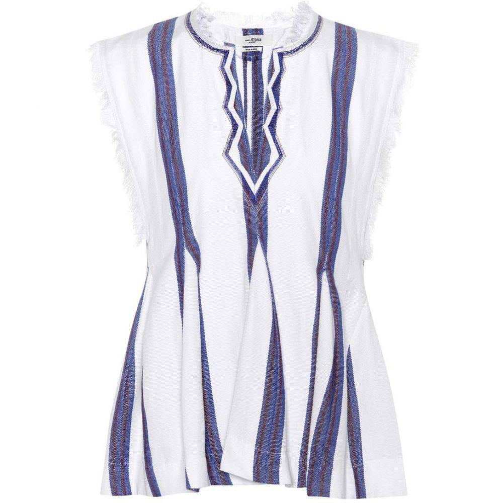 イザベル マラン Isabel Marant, Etoile レディース トップス 【Drappy striped cotton top】White