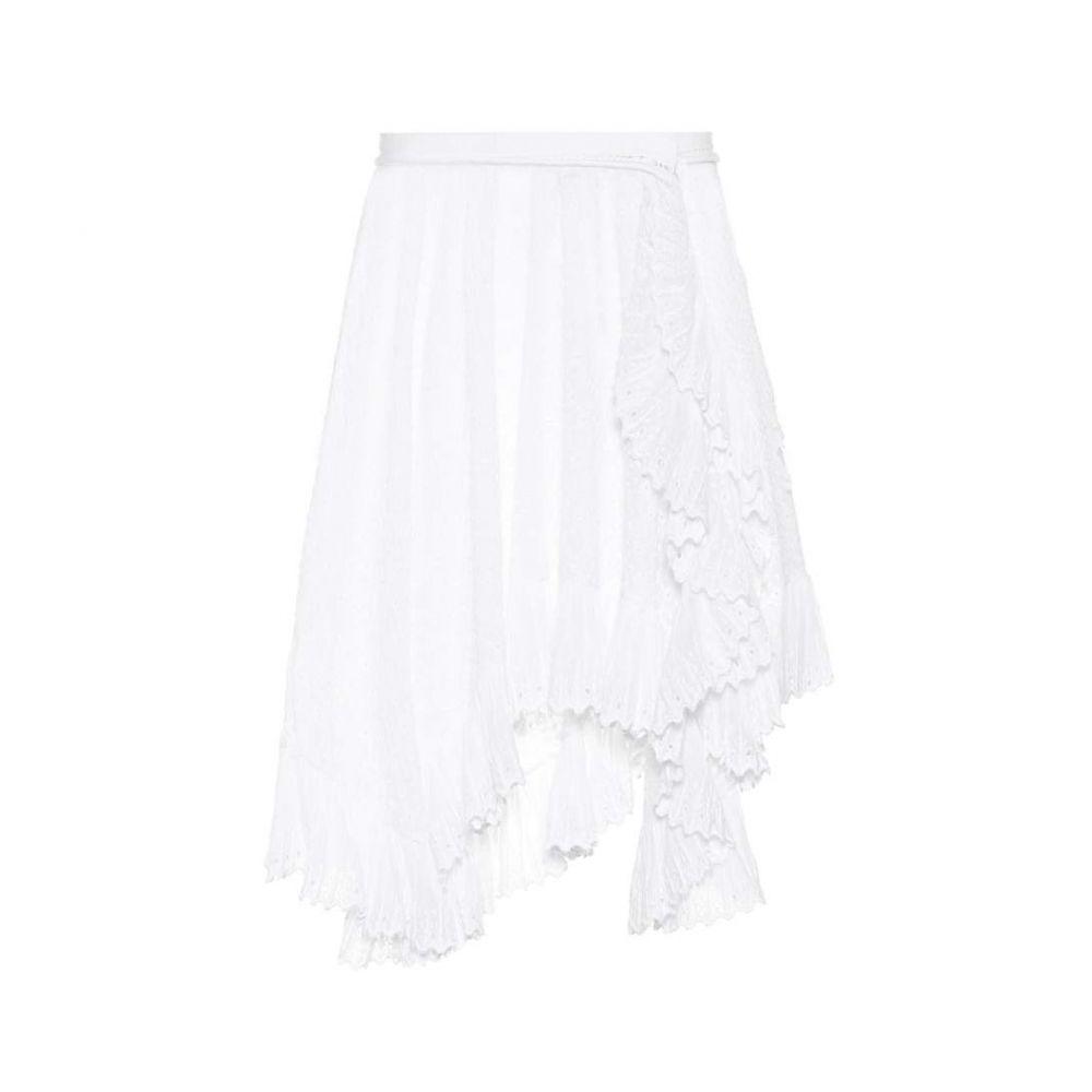 イザベル マラン Isabel Marant レディース ミニスカート スカート【Embroidered cotton miniskirt】White
