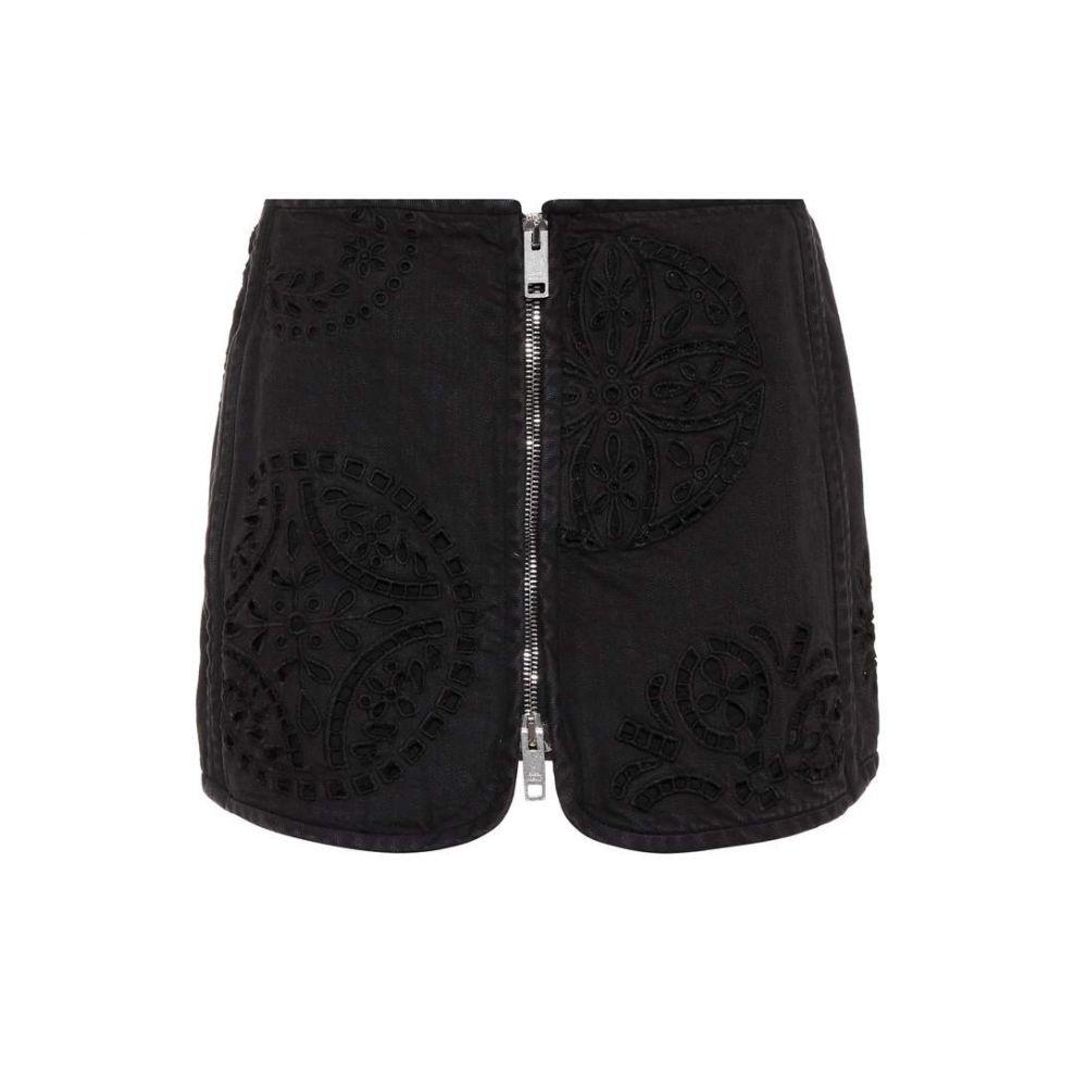 イザベル マラン Isabel Marant レディース ミニスカート スカート【Rilzen embroidered denim miniskirt】Faded Black