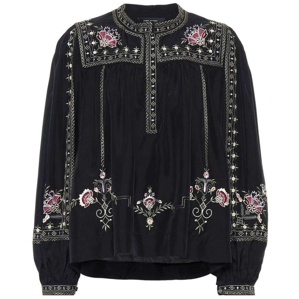 イザベル マラン Isabel Marant レディース ブラウス・シャツ トップス【Dyron embroidered silk blouse】Black