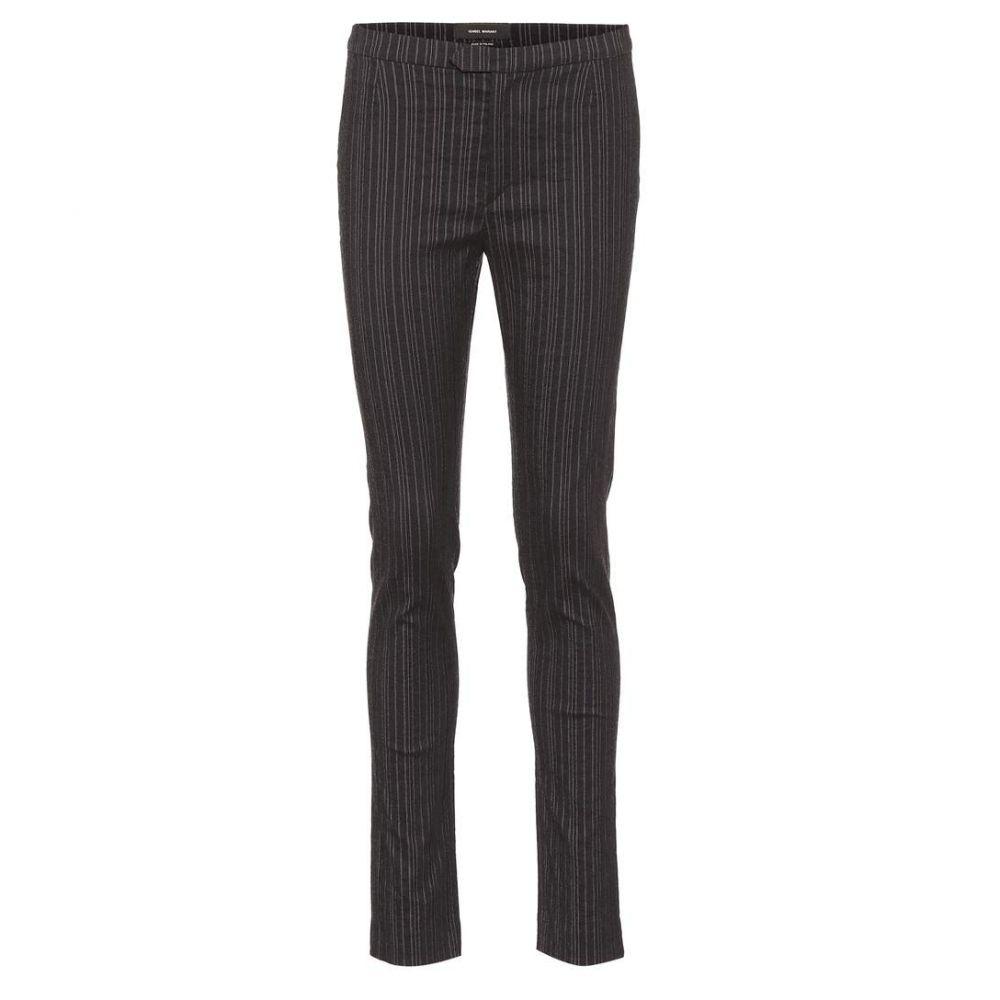 イザベル マラン Isabel Marant レディース ボトムス・パンツ 【Kenton striped wool-blend pants】anthrazite