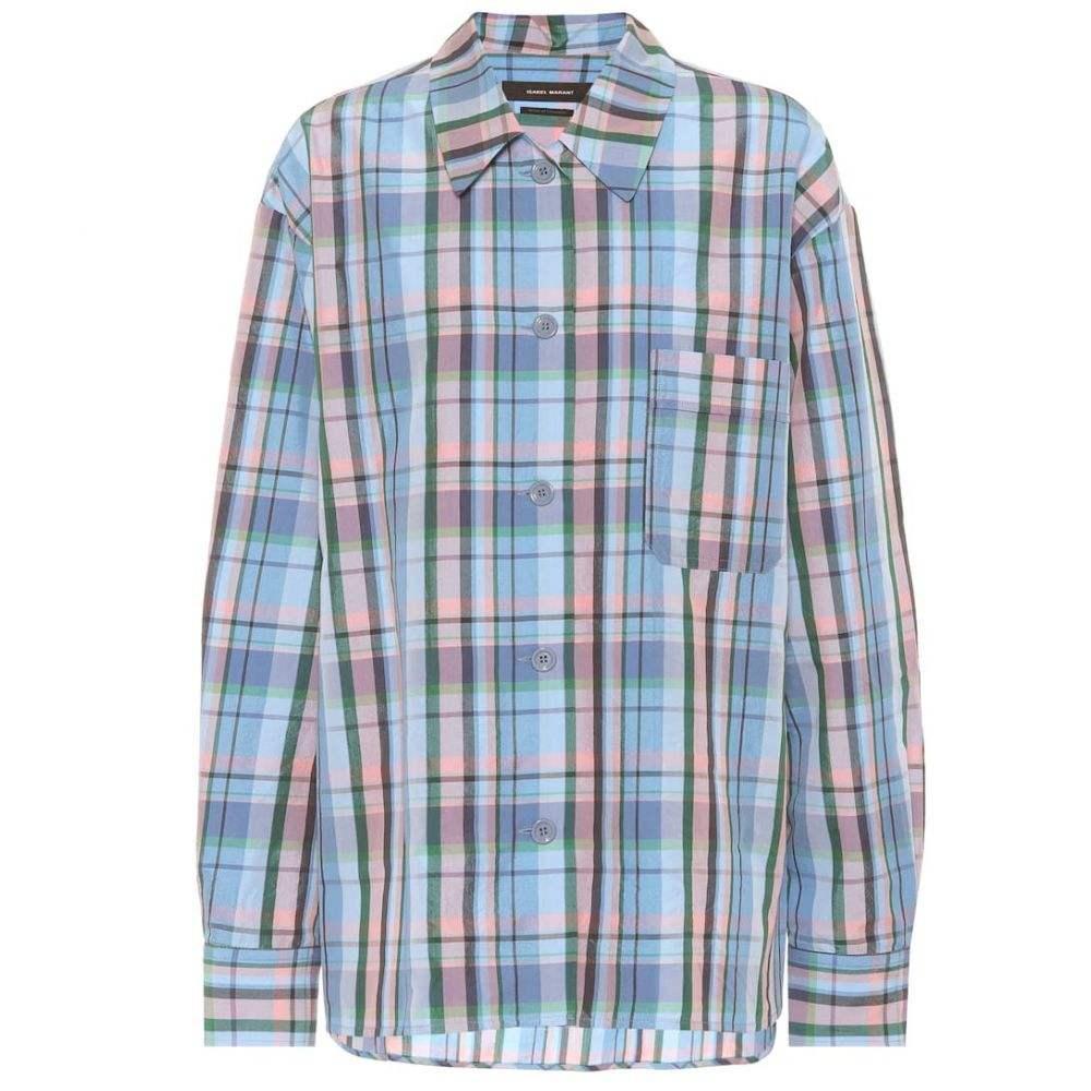 イザベル マラン Isabel Marant レディース ブラウス・シャツ トップス【Venice cotton-blend shirt】Blue